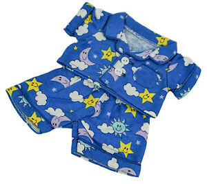 Fun Flannel Pajamas Outfit Teddy Bear Clothes Fit 8 inch to 10 inch Build-a-bear