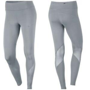 Nike Dri-Fit Women's Size M Epic Lux Power Running Grey Mesh Athletic Leggings