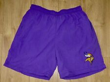 "Nfl-Minnesota Vikings-Sports/Cas.Shorts ,Pockets-Waist 32""-Purple-Embroider ed-New"