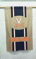 "28"" X 44""  UNIVERSITY OF VA CAVALIERS BURLAP BANNER FLAG"