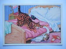 """CPM """"Chats jouant sur un lit"""""""