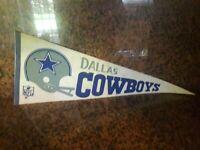 Vintage 1960's Dallas Cowboys NFL Football Sports Used  Pennant