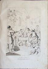 ✅Stampa incisione 1850s La cena di EMAUS Santi di Vito Pieraccini Pistrucci