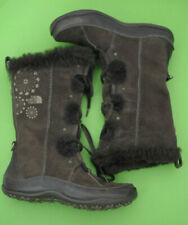 The North Face Abby Brown Suede Calf Boots PrimaLoft Insulated Lace Size 6