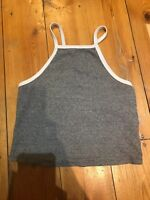 ZARA LADIES GREY CROP TOP SIZE SMALL