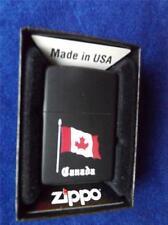 ZIPPO LIGHTER CANADA FLAG BLACK MAPLE LEAF SOUVENIR COLLECTOR NEW GIFT BOX
