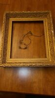Antique Gold Gilt Gesso And Wood Picture Frame square cracking/chipping