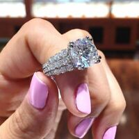 2.50 CT Real Round -Cut Moissanite Halo Engagement Ring 14K White Gold Finish