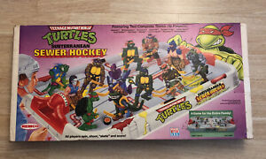 1990 Teenage Mutant Ninja Turtle Subterranean Sewer Hockey REMCO NEW Open Box