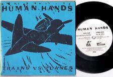 """HUMAN HANDS Trains Vs Planes ORIGINAL US 1981 7"""" Mint"""