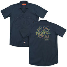 Back To The Future Say Hi Licensed Adult Men's Graphic Work Shirt Sm-3Xl
