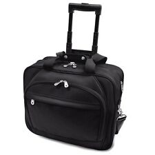 Embassy Plus Black Rolling Laptop Computer Bag Business Wheeled Briefcase Roller
