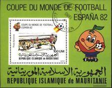 Mauritania Bloque 29 (edición completa) usado 1980 fútbol-campeonato del mundo