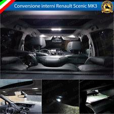 KIT LED INTERNI ABITACOLO COMPLETO RENAULT SCENIC MK3 CANBUS 6000K BIANCO