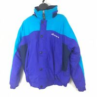 Vintage 90s Burlington Nordica Ski Jacket Womens Medium Purple Blue Color Block