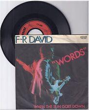 """F.R.David, Words, A/G  7"""" Single 999-143"""
