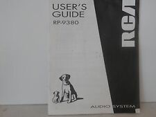 RCA RP 9380 Users Guide Audio System 30 page