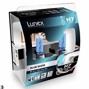 Lunex H7 Halogen Blue White +75% more light Headlight Car Bulbs 3700K Twin