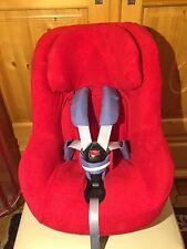 Sommerbezug Schonbezug Frottee für Maxi-cosi Pearl und 2wayPearl NEU rot