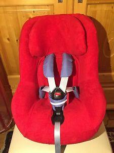 Sommerbezug Schonbezug Frottee für Maxi-cosi Pearl, Pro und 2wayPearl NEU rot