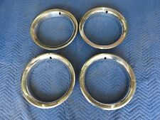 1969-1972-1987 CHEVY GMC BLAZER C-10 4X4 SET OF 4 RALLY TRIM RINGS FOR 15X8 RIMS
