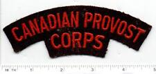 Canadian Provost Corps (Canada) RARE Felt Shoulder Patch from the 1960's