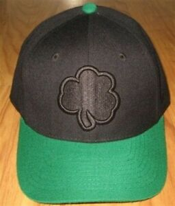 NEW NOTRE DAME FIGHTING IRISH FITTED 7 HAT CAP BLACK ND