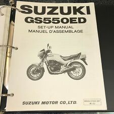 Suzuki Set-Up Manual for GS550ED March 1983 Printed in Japan in English