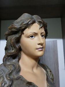 Antiques Large Amphora Bust Figurine God Of Music