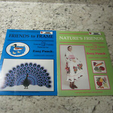 Two Easy Punch Embroidery Machine Pattern Books 1983;Nature's Friends to Frame