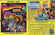 MADAGASCAR 3 - RICERCATI IN EUROPA - BLU-RAY + DVD (NUOVO SIGILLATO) SLIPCASE
