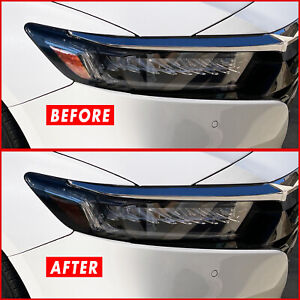 FOR 18-21 Honda Accord Headlight Side Marker SMOKE Precut Vinyl Tint Overlays