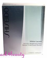 Shiseido White Lucent Brightening Mask 6 Sheets New In Dmg Box