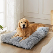 Wayimpress Large Dog Crate Bed Crate Pad Mat For Medium Small DogsCats,Fulffy F