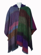 WHOLESALE LOT OF 10 SOFT & BEAUTIFUL RAINBOW ALPACA HOODED PONCHOS CAPE