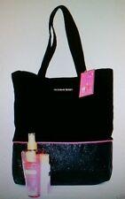 Pure Seduction Bling Black Tote Bag Body Wash Lotion Mist 4 PC VICTORIA'S SECRET