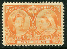 Canada #51 F-Vf Light Hinged Issue - Queen Victoria 60 Years Jubilee - S6212
