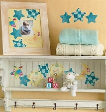 WALLIES SUN MOON STARS wall stickers 25 patchwork decals baby NURSERY celestial