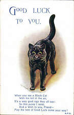 Louis Wain. Good Luck to You in Valentine's Series # A 4656.