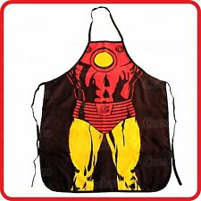 APRON-FUNNY-SUPERHERO SUPERMAN STRONG MUSCLE MAN-KITCHEN-COOKING-COSTUME-BBQ