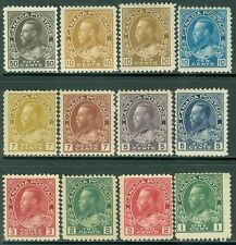 CANADA : 1911-25. Nice group of 12 Admirals Mint OGH very small faults. Cat $296