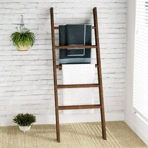 "Tribesigns Ladder Shelf Blanket Ladder Quilt Rack, 55.1"" Stand Wood Ladder US"