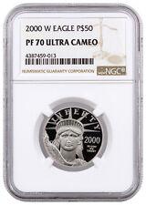 2000-W $50 1/2 Oz Proof American Platinum Eagle NGC PF70 UC SKU16255