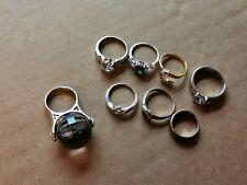 Rings Job Lot X 7 & 39g Vintage And Modern Dress Rings Costume Jewellery Dress