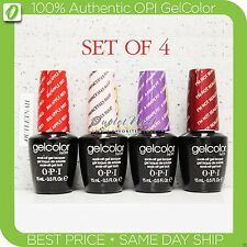 OPI GelColor Kit: SET OF 4 Any Soak Off Gel Nail Colour UV Led Lot >> SHIP 24H