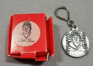 RARE 1985 Pewter Pete Rose Double Sided Key Chain 4192 !In Box-Hit King-Reds ATG