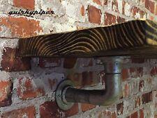 TUBO in acciaio industriale Steampunk PONTEGGIO Bordo Mensola Staffe x2 (HD)