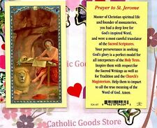 Saint Jerome with Prayer to St. Jerome on back - Laminated Holy Card