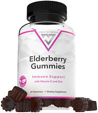 Value Nutrition Elderberry Gummies - Immune Support with Vitamin C and Zinc