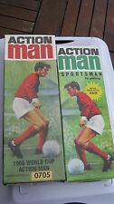 ACTION MAN 1966 WORLD CUP PLAYER & 2008 FOOTBALLER BOTH UNPLAYED  & COLLECTABLE.